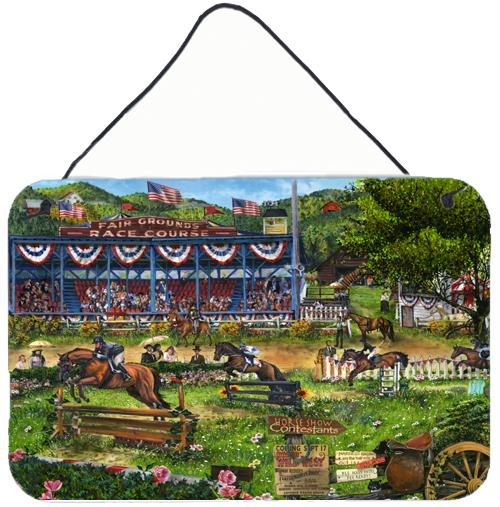 A Day at The Horse Races Wall or Door Hanging Prints by Caroline's Treasures