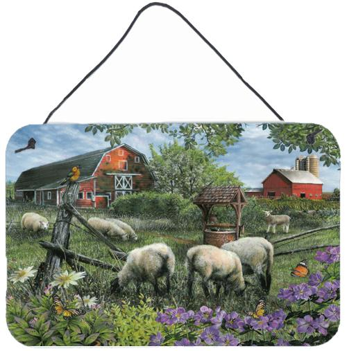 Pleasant Valley Sheep Farm Wall or Door Hanging Prints PTW2026DS812 by Caroline's Treasures