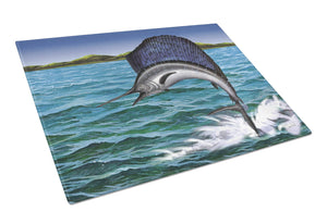 Blue Marlin Glass Cutting Board Large PTW2037LCB - the-store.com