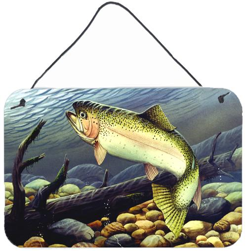Rainbow Trout Wall or Door Hanging Prints by Caroline's Treasures