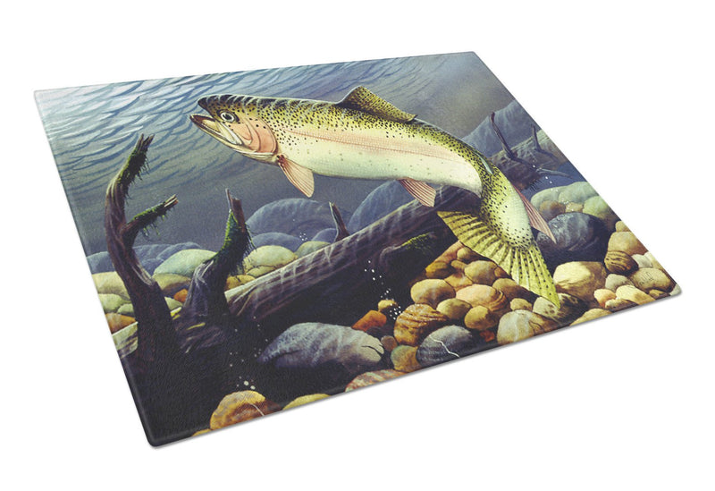 Buy this Rainbow Trout Glass Cutting Board Large PTW2039LCB