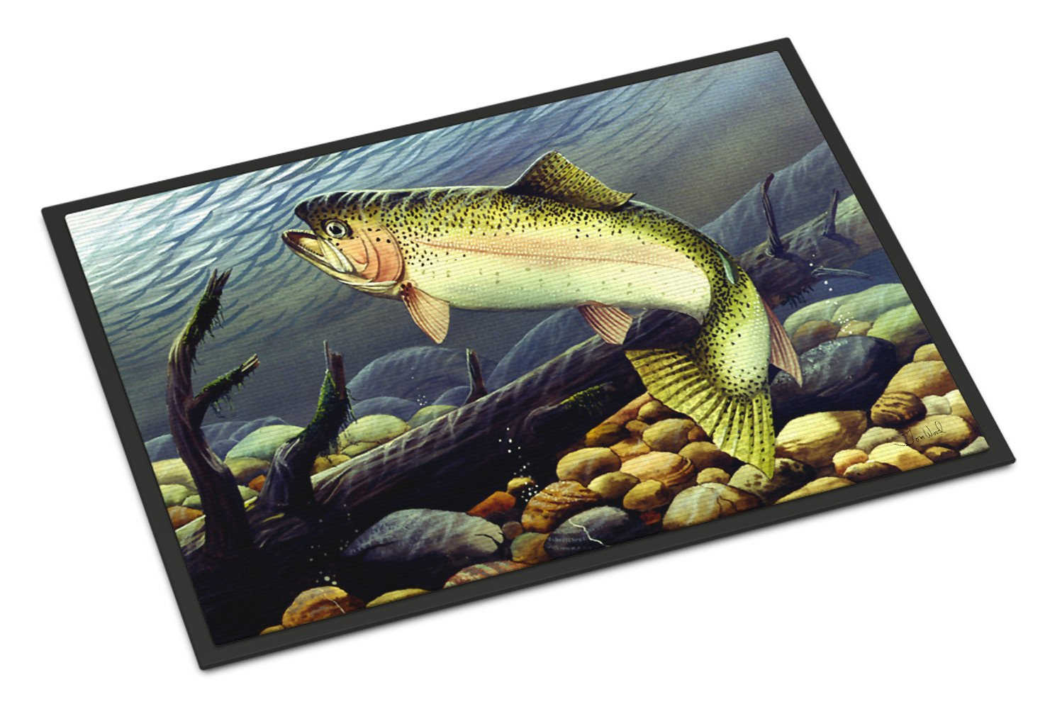 Rainbow Trout Indoor or Outdoor Mat 18x27 PTW2039MAT by Caroline's Treasures