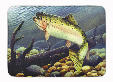 Buy this Rainbow Trout Machine Washable Memory Foam Mat PTW2039RUG