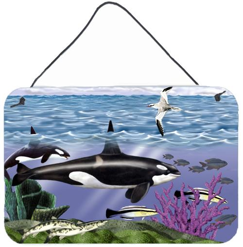Whale Orcas Wall or Door Hanging Prints by Caroline's Treasures