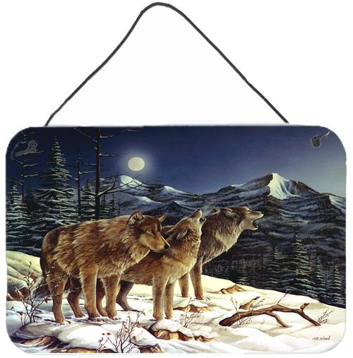 Buy this Wolf Wolves Crying at The Moon Wall or Door Hanging Prints PTW2041DS812