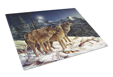 Buy this Wolf Wolves Crying at The Moon Glass Cutting Board Large PTW2041LCB