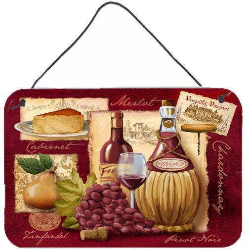 Wine and Cheese Wall or Door Hanging Prints PTW2046DS812 by Caroline's Treasures