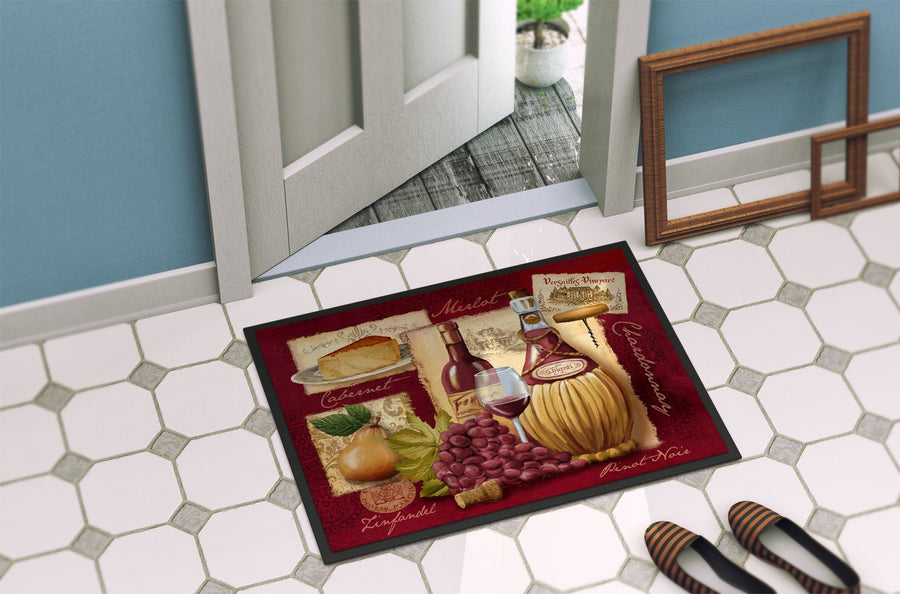 Buy this Wine and Cheese Indoor or Outdoor Mat 24x36 PTW2046JMAT
