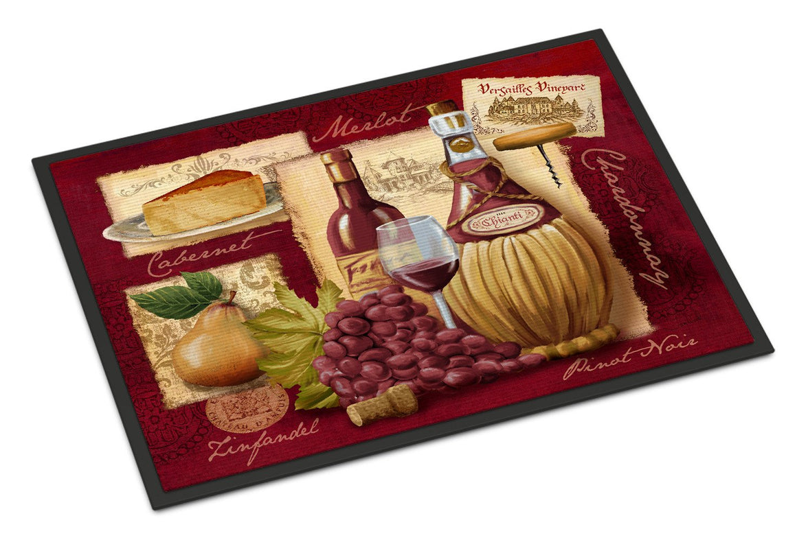 Buy this Wine and Cheese Indoor or Outdoor Mat 18x27 PTW2046MAT