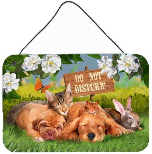 Buy this Golden Retriever and Sharpei Do Not Disturb Wall or Door Hanging Prints PTW2048DS812