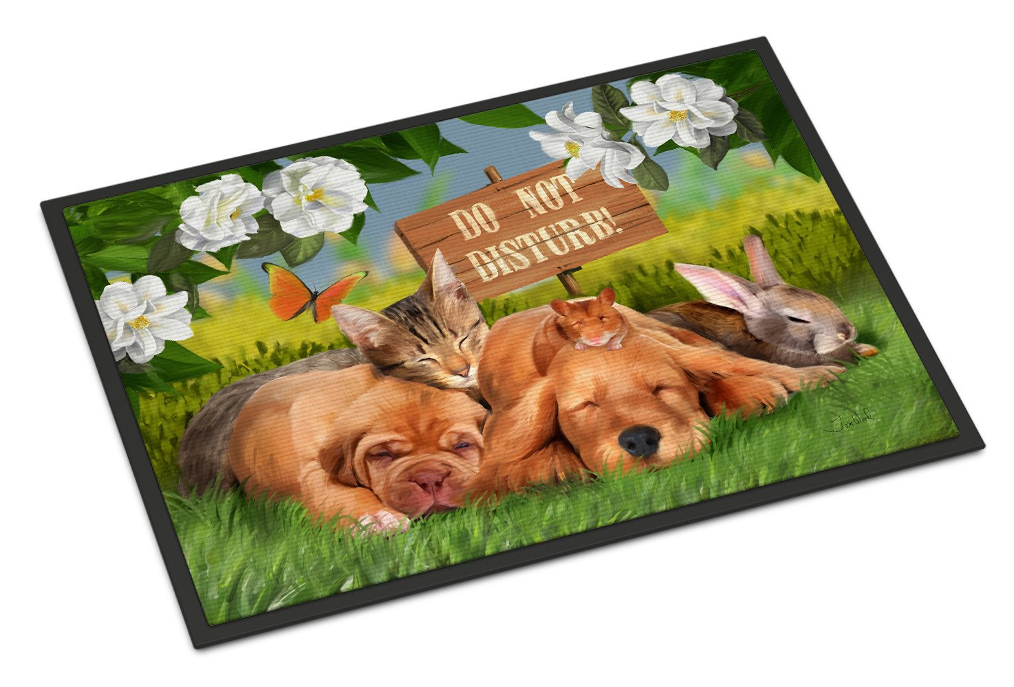 Golden Retriever and Sharpei Do Not Disturb Indoor or Outdoor Mat 18x27 PTW2048MAT - the-store.com