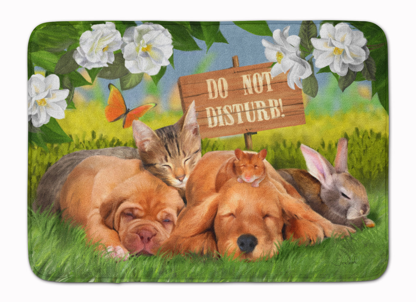 Golden Retriever and Sharpei Do Not Disturb Machine Washable Memory Foam Mat PTW2048RUG by Caroline's Treasures