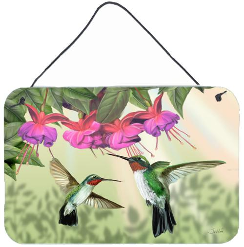 Fuchsia and Hummingbirds Wall or Door Hanging Prints by Caroline's Treasures