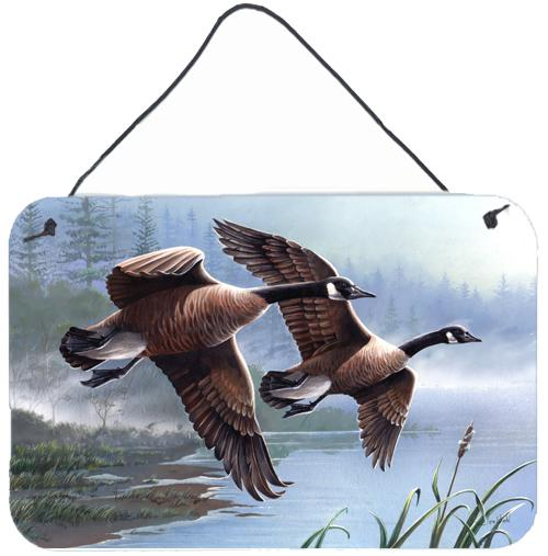 Geese on the Wing Wall or Door Hanging Prints by Caroline's Treasures