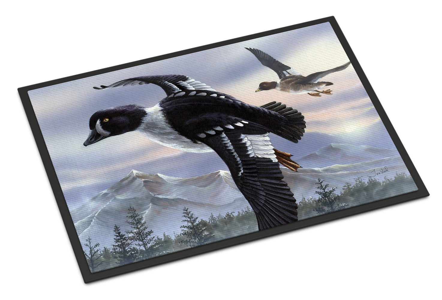 Buy this Goldeneye Ducks Flying Indoor or Outdoor Mat 24x36 PTW2055JMAT