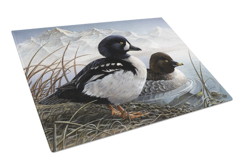 Buy this Goldeneye Ducks in the Water Glass Cutting Board Large PTW2056LCB