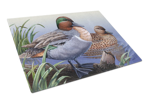 Buy this Green Teal Ducks in the Water Glass Cutting Board Large PTW2057LCB
