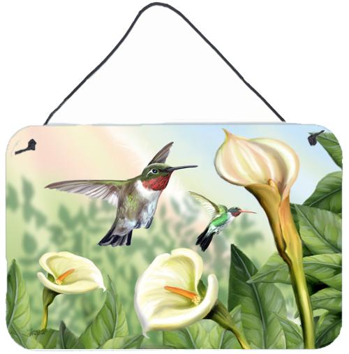 Lily and the Hummingbirds Wall or Door Hanging Prints by Caroline's Treasures