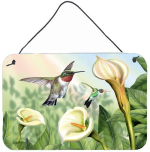 Buy this Lily and the Hummingbirds Wall or Door Hanging Prints