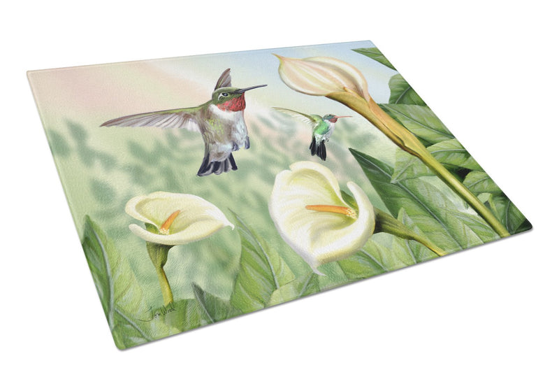 Buy this Lily and the Hummingbirds Glass Cutting Board Large PTW2058LCB