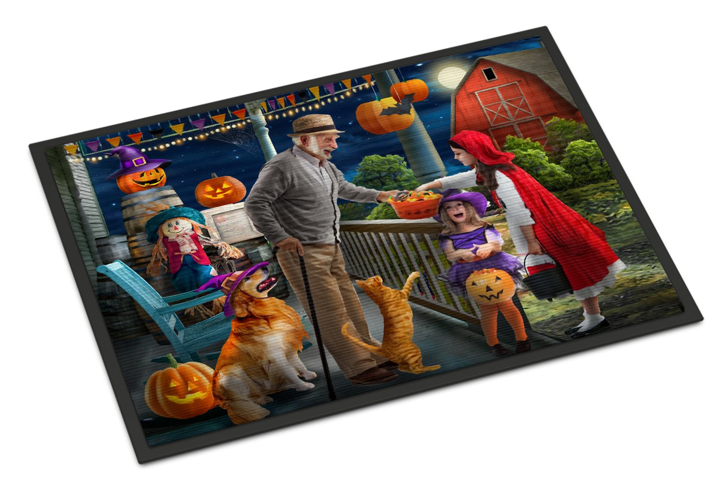 Halloween at Grandpa's Golden Retriever Indoor or Outdoor Mat 24x36 PTW2072JMAT by Caroline's Treasures