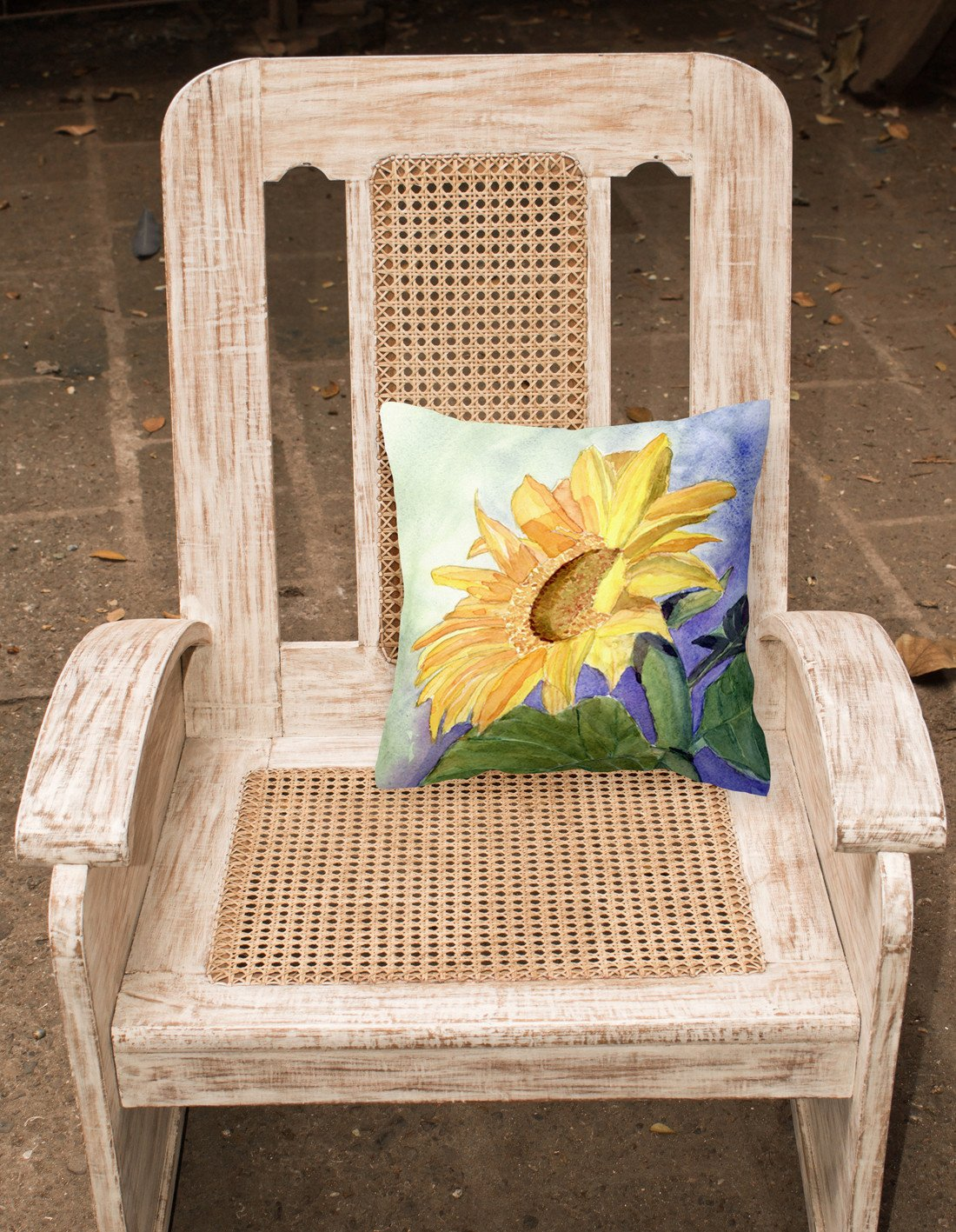 Flower - Sunflower Decorative   Canvas Fabric Pillow by Caroline's Treasures