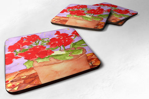 Buy this Set of 4 Flower - Geranium Foam Coasters