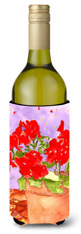 Buy this Flower - Geranium Wine Bottle Beverage Insulator Beverage Insulator Hugger