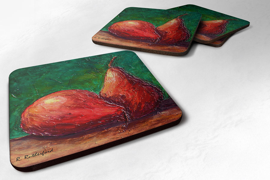 Buy this Set of 4 Pears Foam Coasters