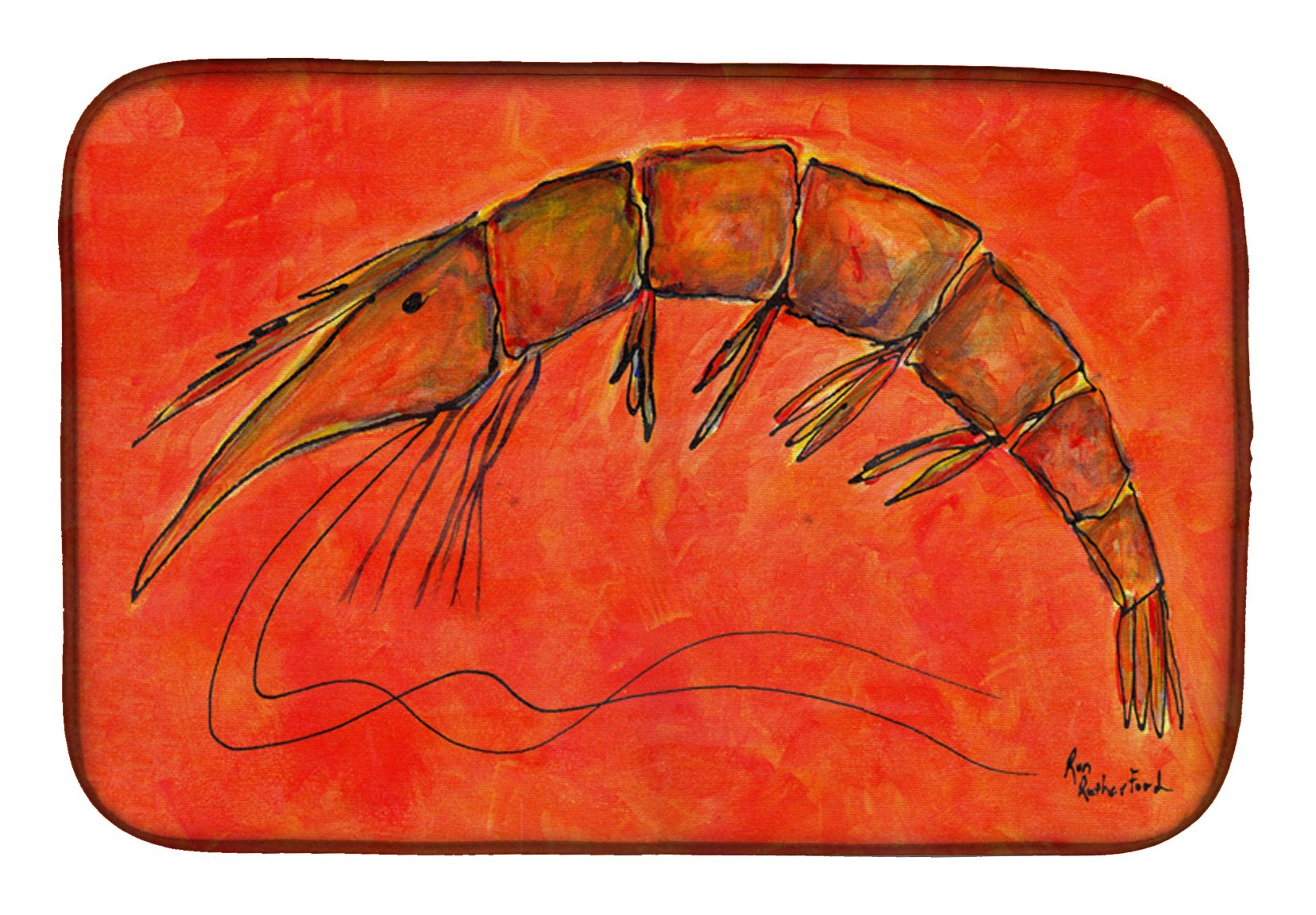 Shrimp Dish Drying Mat RDR2012DDM by Caroline's Treasures