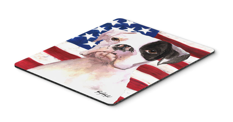 Cooper USA American Flag Boxer Mouse Pad, Hot Pad or Trivet - the-store.com