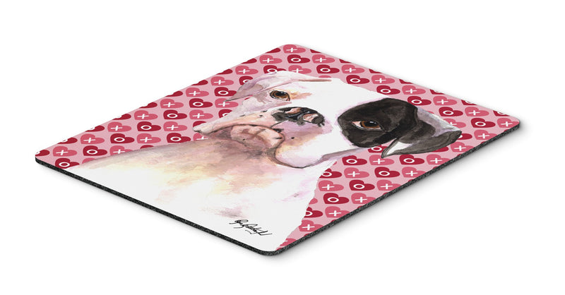 Cooper Love and Hearts Boxer Mouse Pad, Hot Pad or Trivet - the-store.com