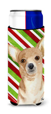 Candy Stripe Chihuahua Christmas Ultra Beverage Insulators for slim cans  RDR3010MUK by Caroline's Treasures