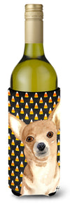 Buy this Candy Corn Chihuahua Halloween Wine Bottle Beverage Insulator Beverage Insulator Hugger  RDR3016LITERK