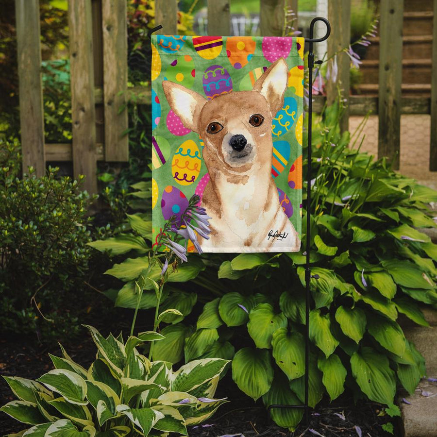 Buy this Eggravaganza Chihuahua Easter Flag Garden Size RDR3017GF
