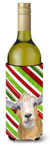 Candy Cane Goat Christmas Wine Bottle Beverage Insulator Beverage Insulator Hugger  RDR3022LITERK by Caroline's Treasures