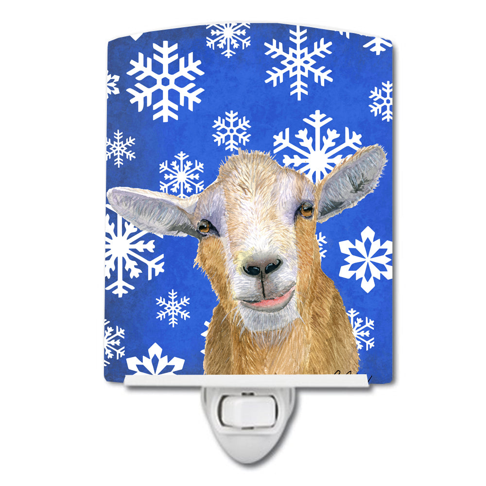 Buy this Goat Winter Snowflakes Holiday Ceramic Night Light RDR3023CNL
