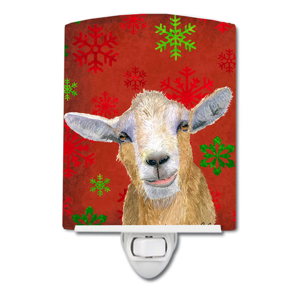 Buy this Goat Candy Cane Holiday Christmas Ceramic Night Light RDR3024CNL