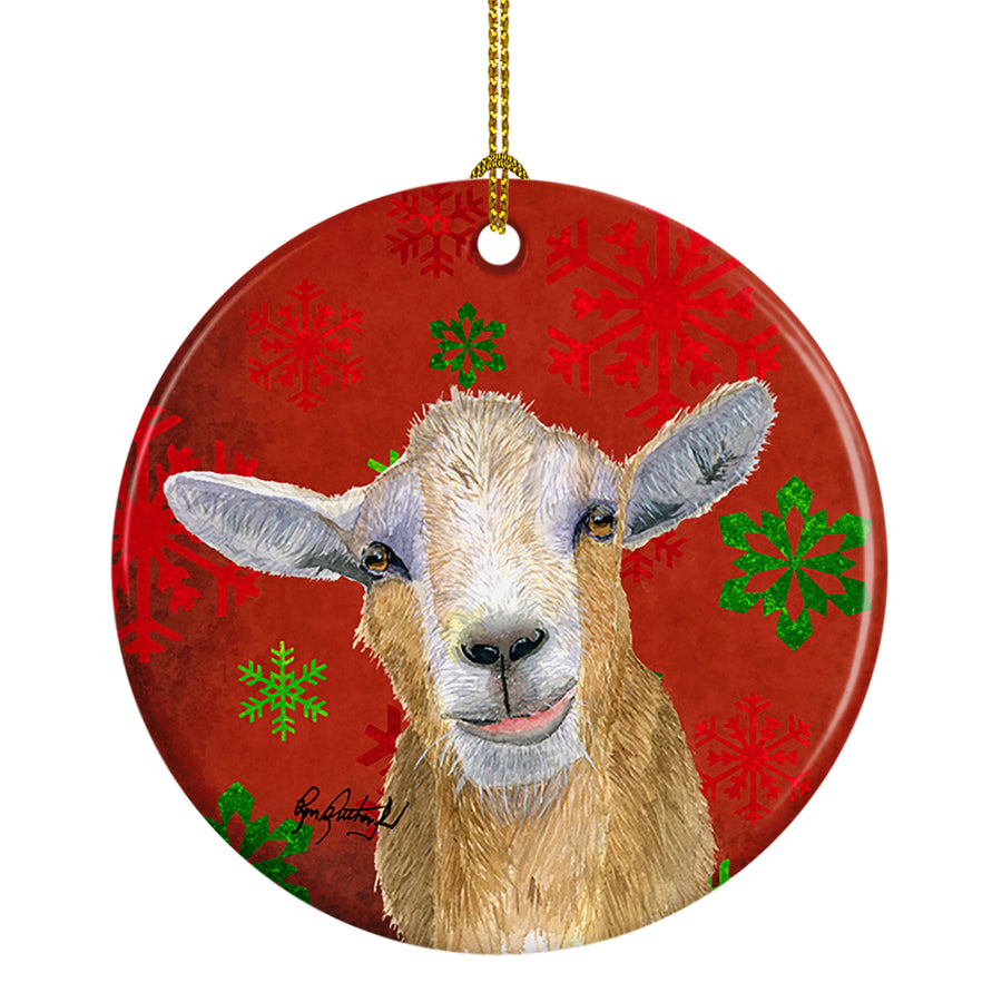 Buy this Goat Candy Cane Holiday Christmas Ceramic Ornament RDR3024CO1