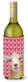 Hearts and Love Goat Wine Bottle Beverage Insulator Beverage Insulator Hugger  RDR3026LITERK by Caroline's Treasures