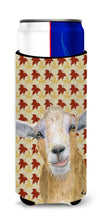 Fall Leaves Goat Ultra Beverage Insulators for slim cans  RDR3027MUK by Caroline's Treasures