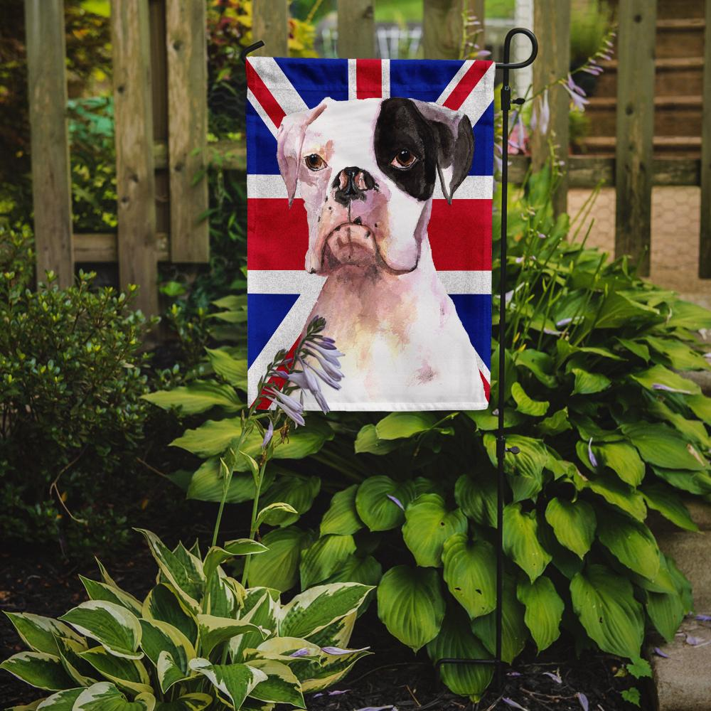 Boxer Cooper with English Union Jack British Flag Flag Garden Size RDR3030GF by Caroline's Treasures