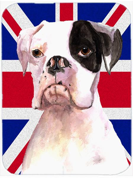 Buy this Boxer Cooper with English Union Jack British Flag Mouse Pad, Hot Pad or Trivet RDR3030MP
