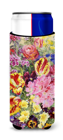 Buy this Summer Floral by Anne Searle Ultra Beverage Insulators for slim cans SASE0953MUK