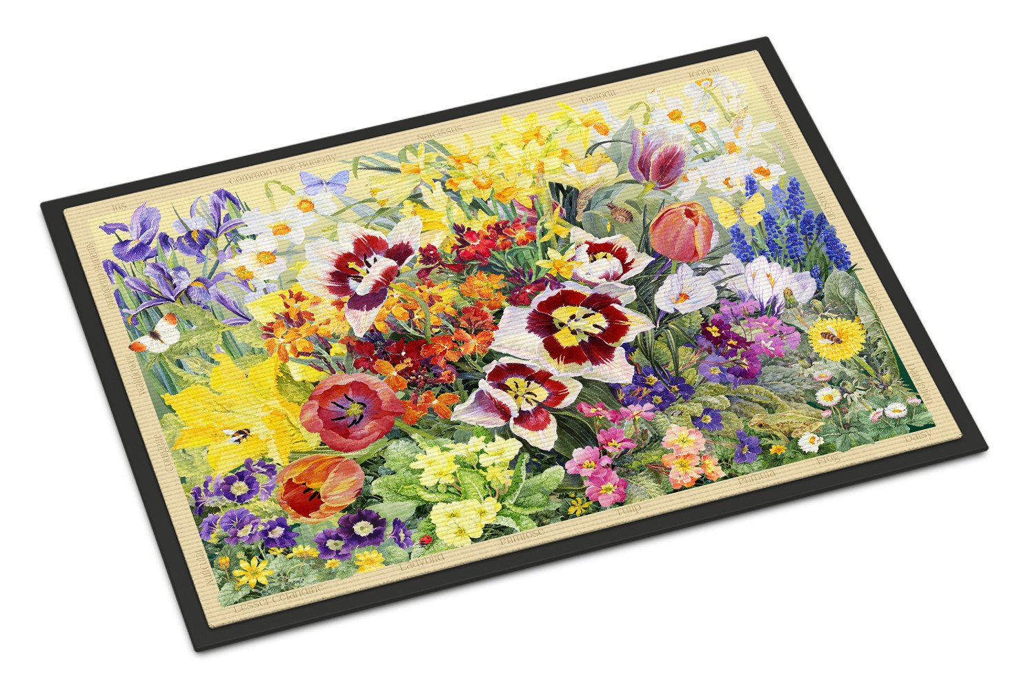 Spring Floral By Anne Searle Indoor Or Outdoor Mat 18x27