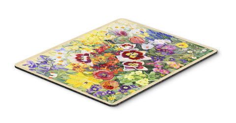 Buy this Spring Floral by Anne Searle Mouse Pad, Hot Pad or Trivet SASE0954MP