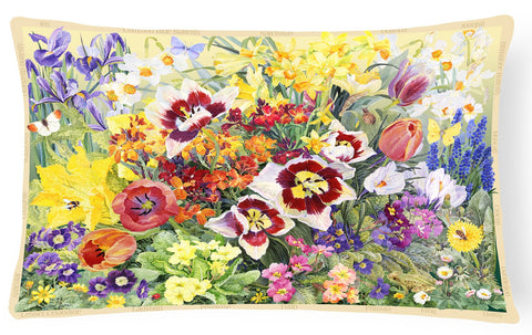 Buy this Spring Floral by Anne Searle Fabric Decorative Pillow SASE0954PW1216