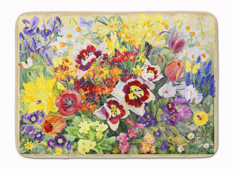 Buy this Spring Floral by Anne Searle Machine Washable Memory Foam Mat SASE0954RUG
