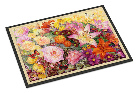 Buy this Autumn Floral by Anne Searle Indoor or Outdoor Mat 18x27 SASE0955MAT