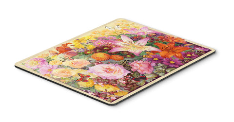 Buy this Autumn Floral by Anne Searle Mouse Pad, Hot Pad or Trivet SASE0955MP